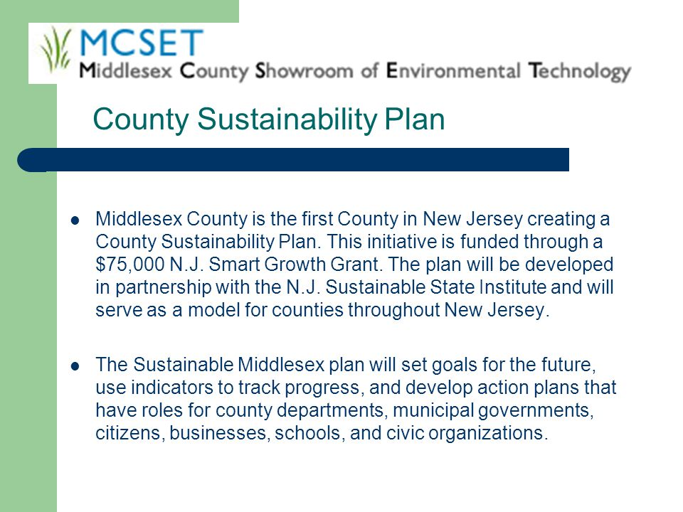 County Sustainability Plan