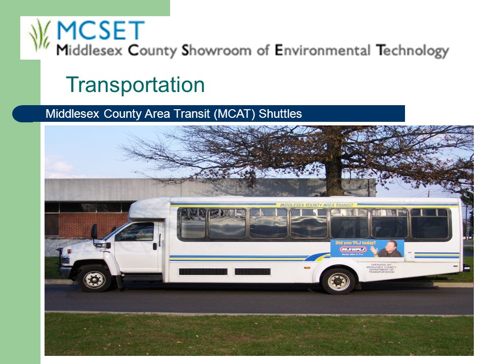 Transportation Middlesex County Area Transit (MCAT) Shuttles