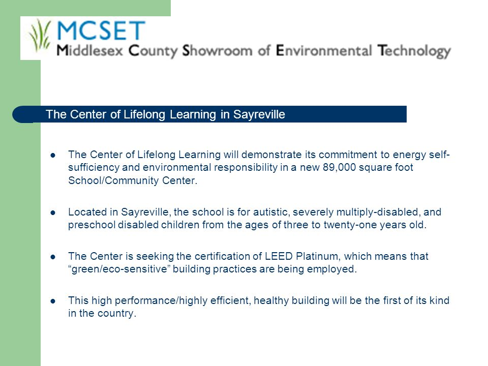 The Center of Lifelong Learning in Sayreville