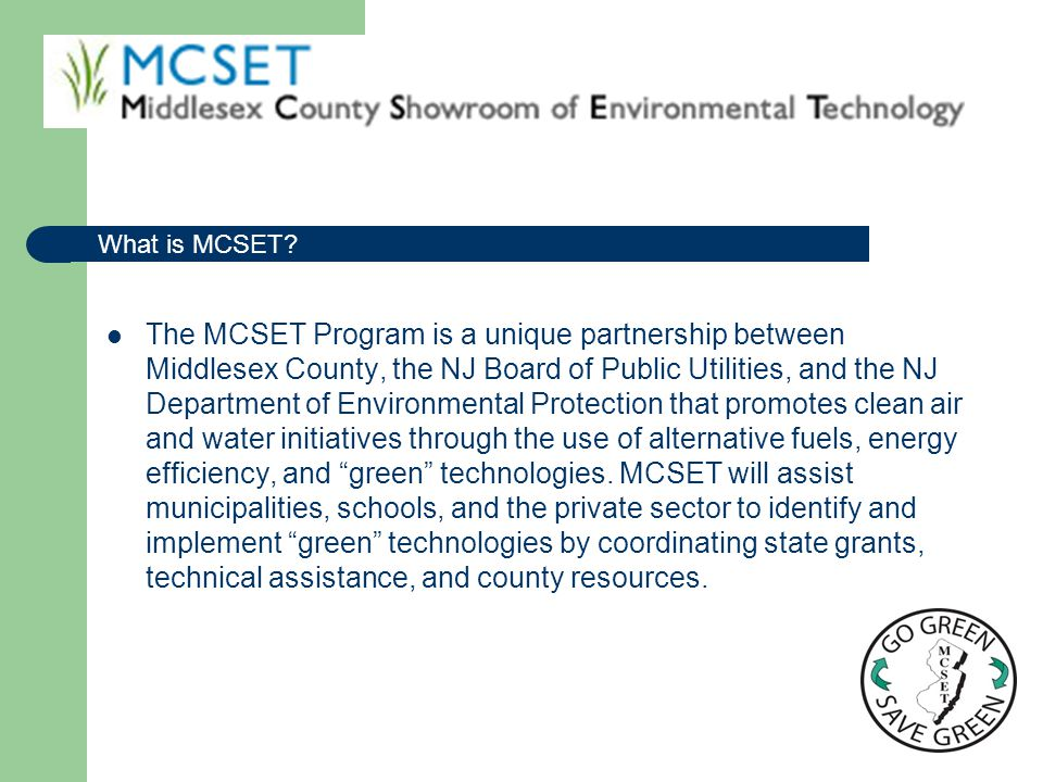 What is MCSET