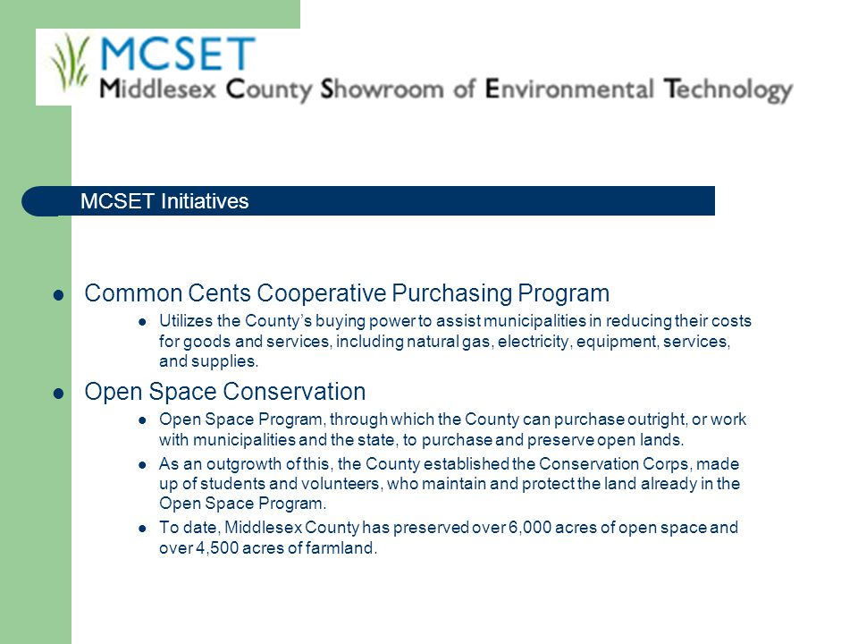 Common Cents Cooperative Purchasing Program