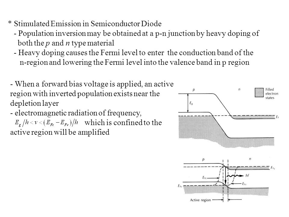 * Stimulated Emission in Semiconductor Diode