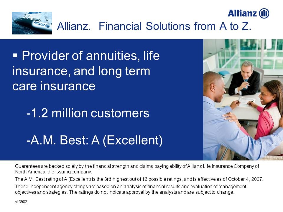 Allianz. Financial Solutions from A to Z.