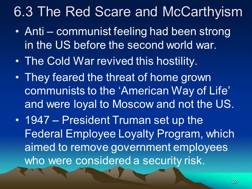 6.3 The Red Scare and McCarthyism