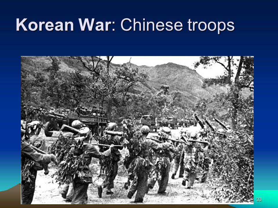 Korean War: Chinese troops
