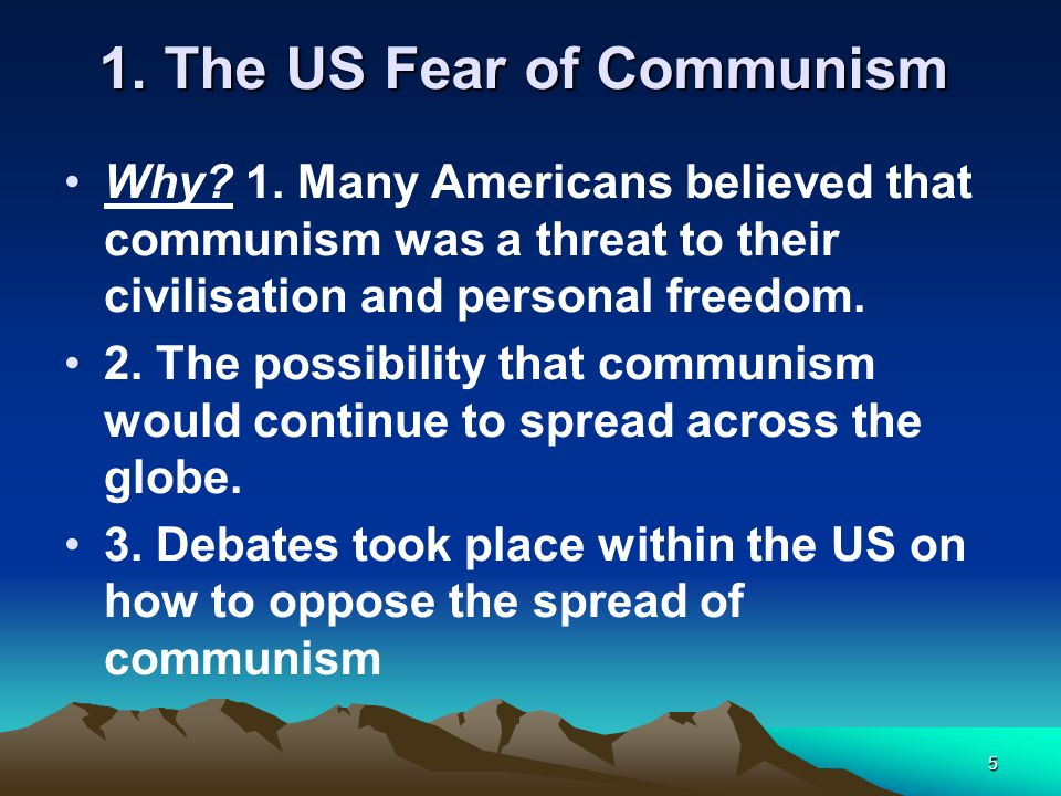 1. The US Fear of Communism