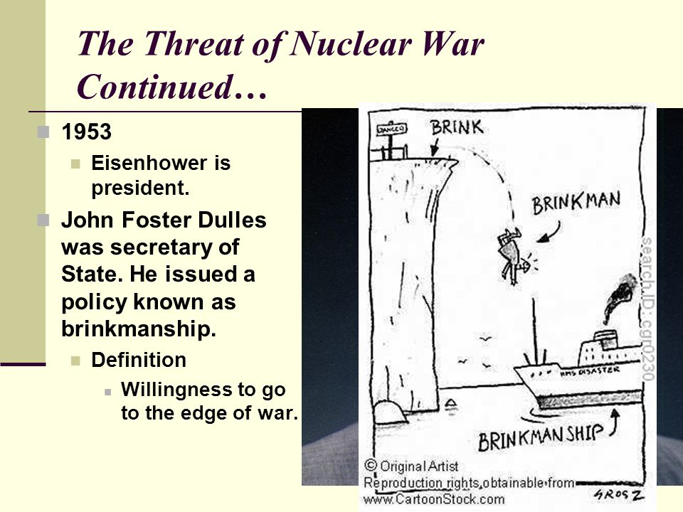 The Threat of Nuclear War Continued…