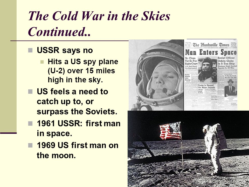 The Cold War in the Skies Continued..