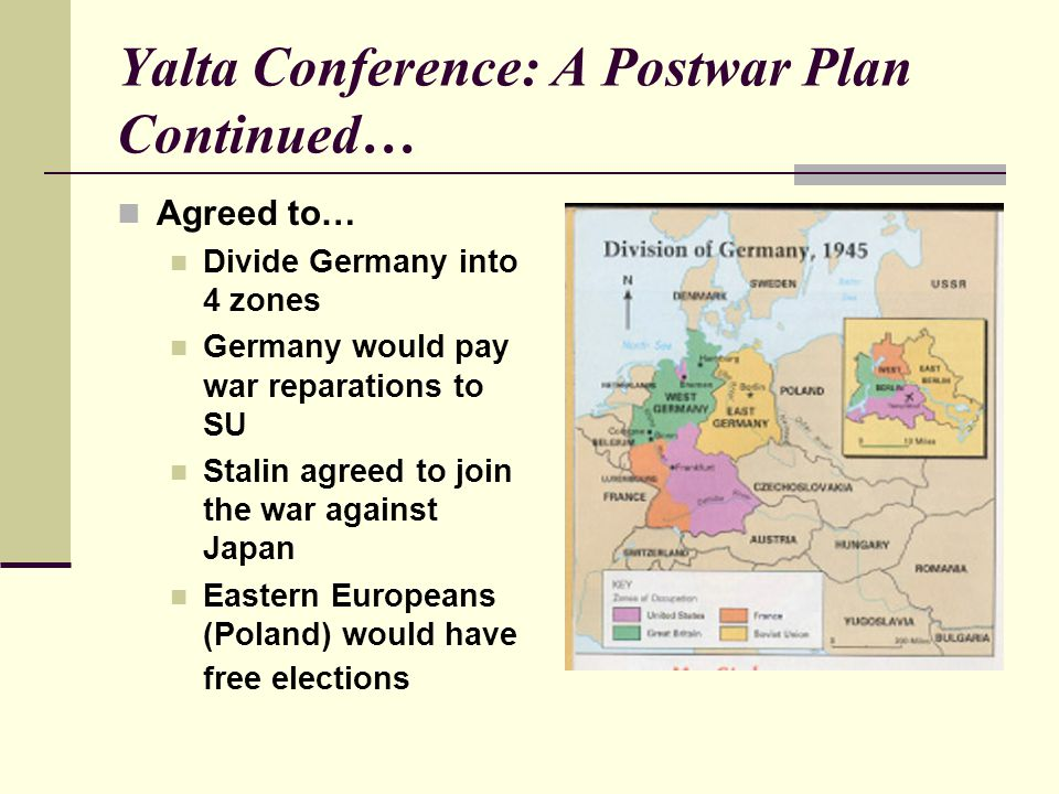 Yalta Conference: A Postwar Plan Continued…