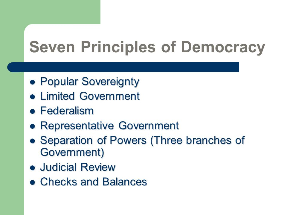 Seven Principles of Democracy