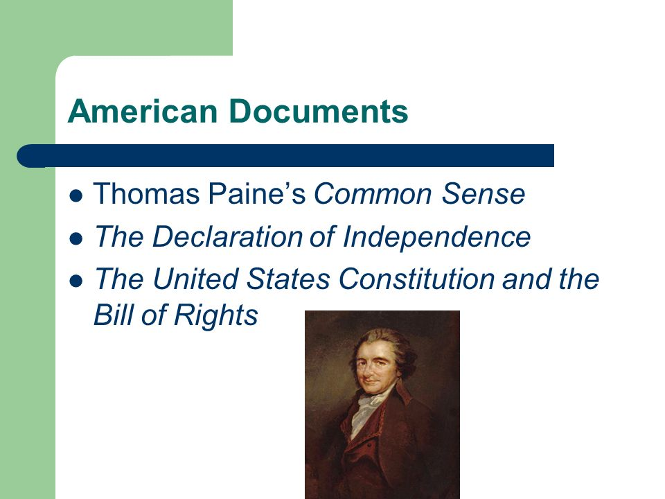 American Documents Thomas Paine's Common Sense