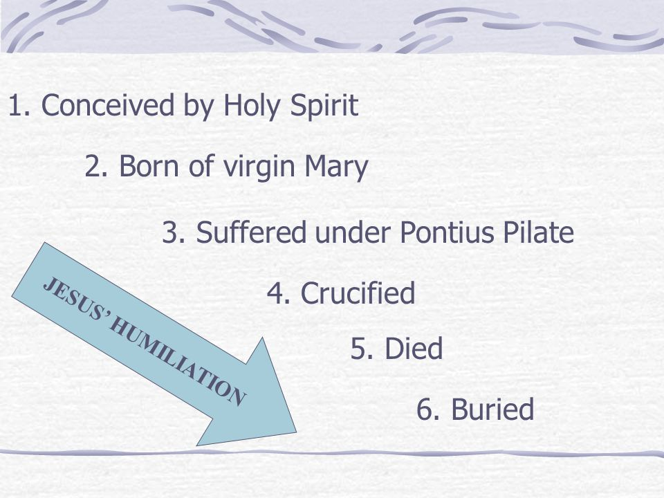 1. Conceived by Holy Spirit