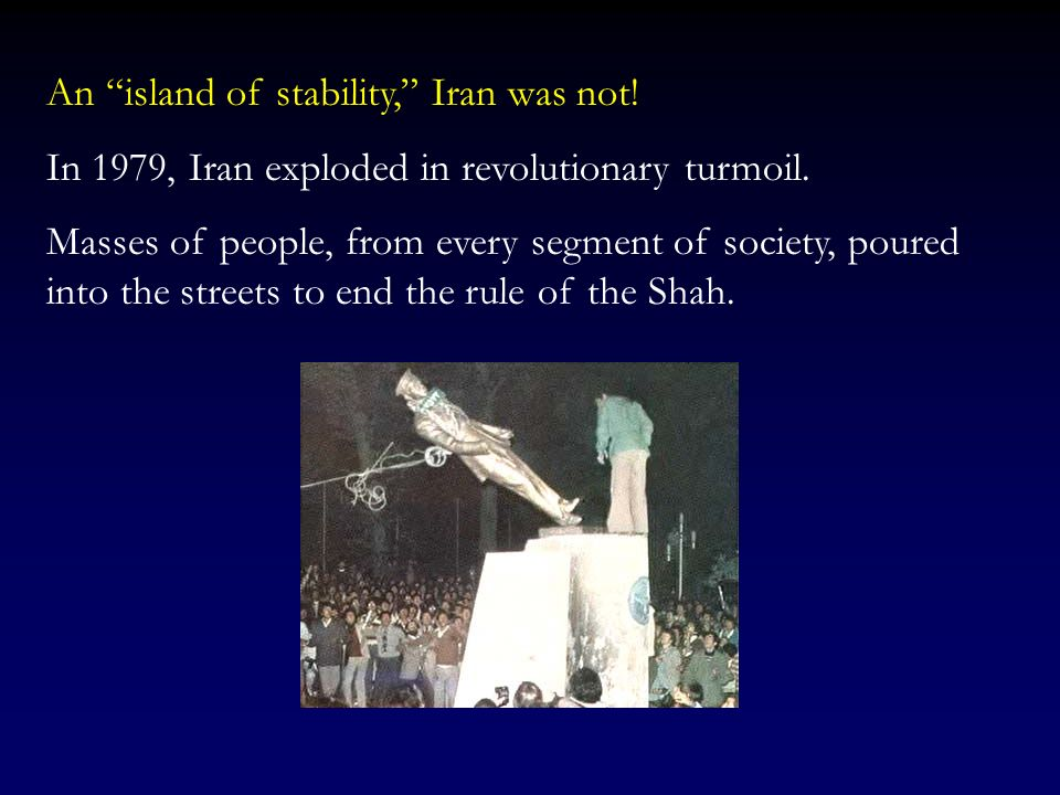 An island of stability, Iran was not!
