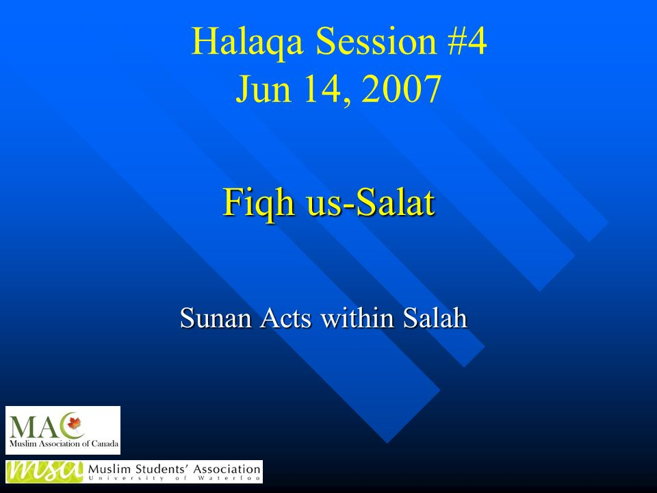 Sunan Acts within Salah