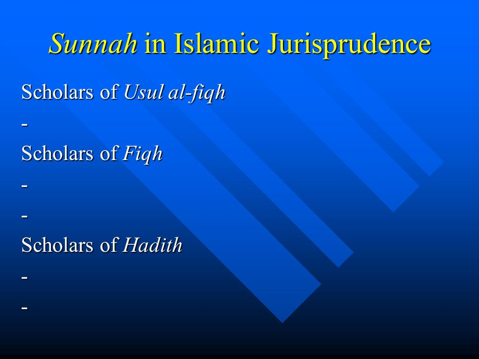 Sunnah in Islamic Jurisprudence