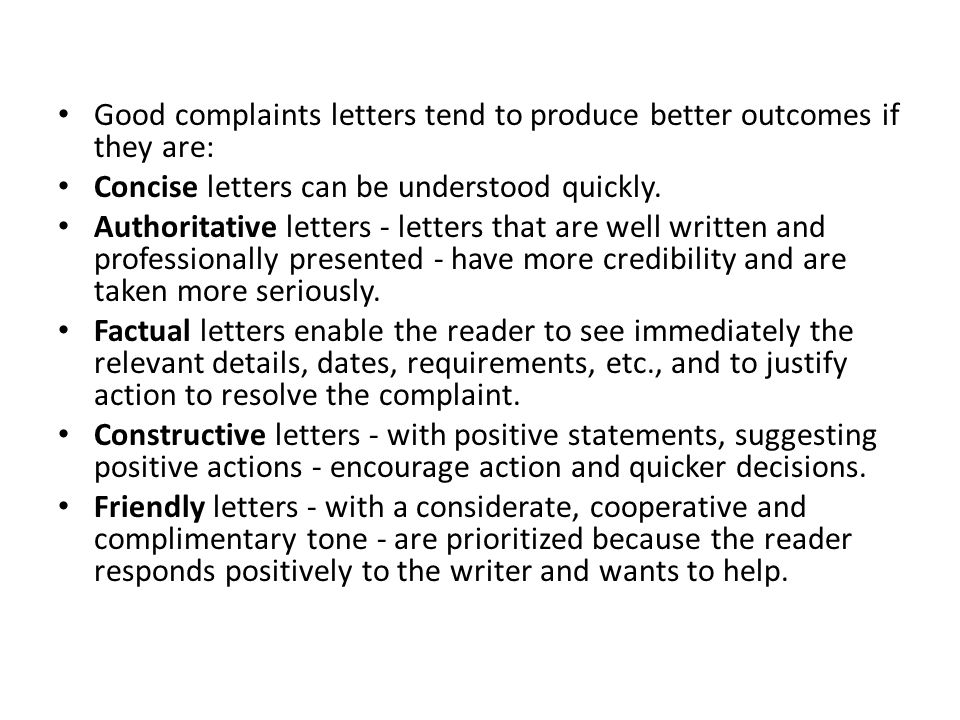 How to write a letter of complaint ppt video online download how to write a letter of complaint 2 good complaints expocarfo Image collections