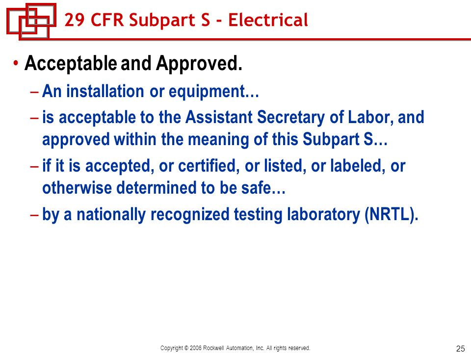 29 CFR Subpart S - Electrical