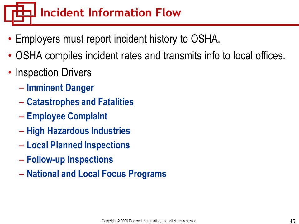 Incident Information Flow