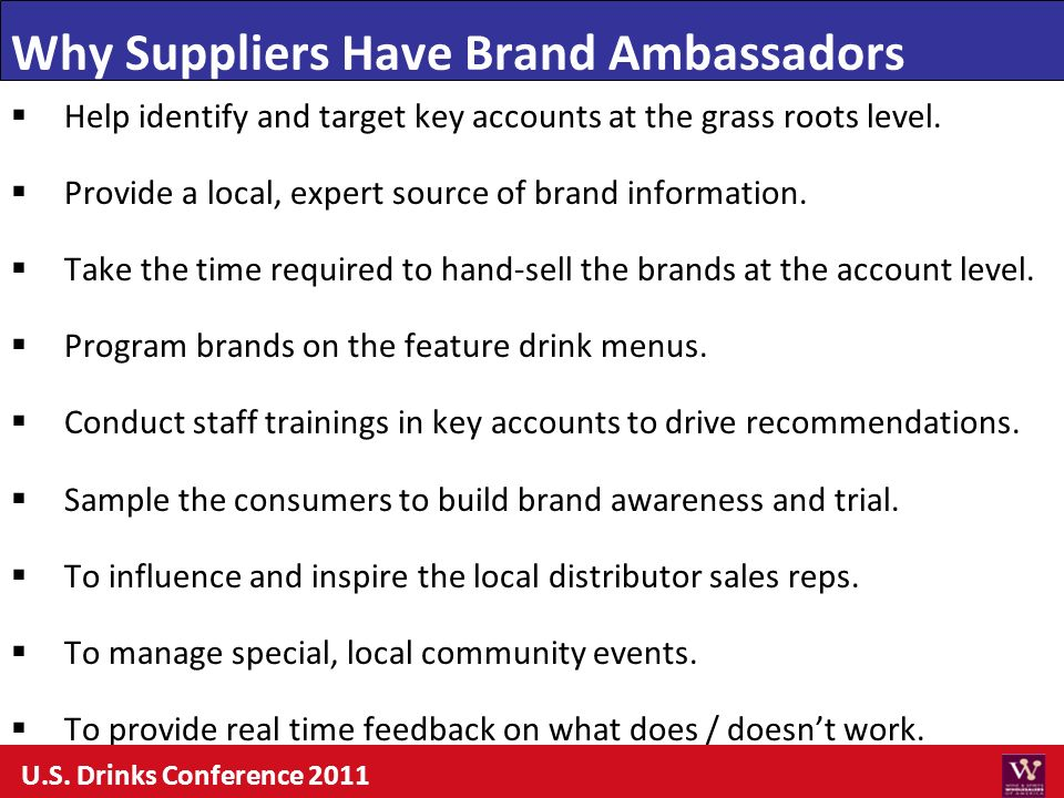 Why Suppliers Have Brand Ambassadors