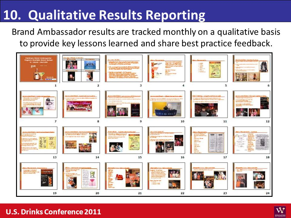 10. Qualitative Results Reporting