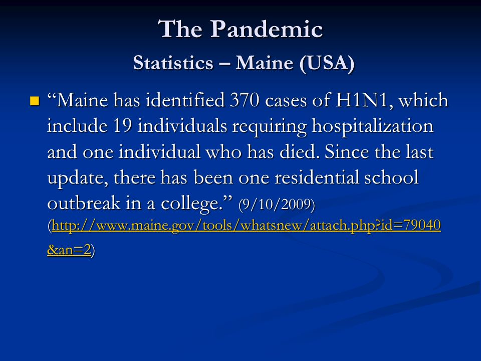 The Pandemic Statistics – Maine (USA)