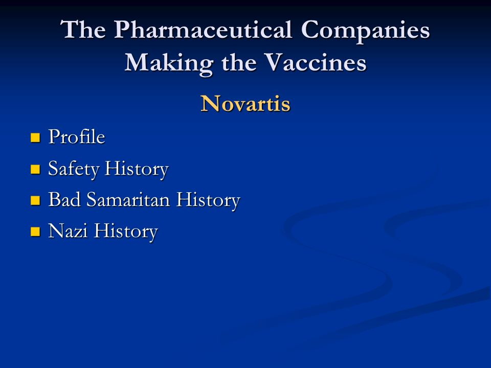 The Pharmaceutical Companies Making the Vaccines