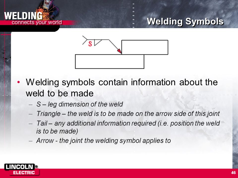 Welding symbols contain information about the weld to be made