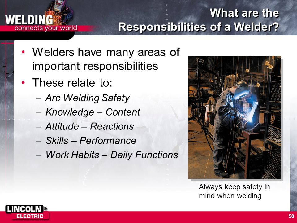 What are the Responsibilities of a Welder