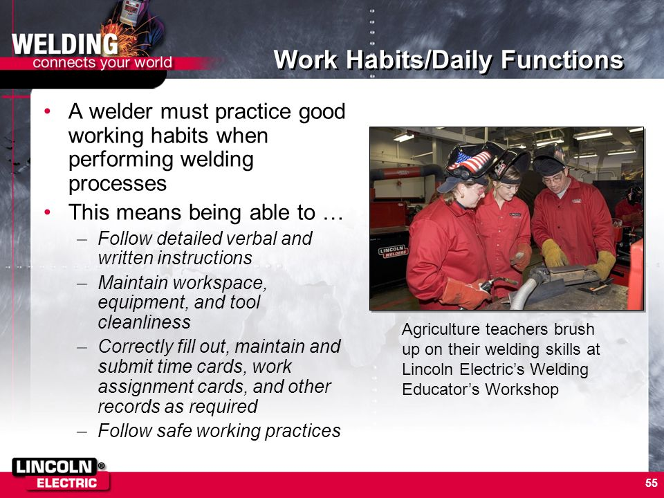 Work Habits/Daily Functions