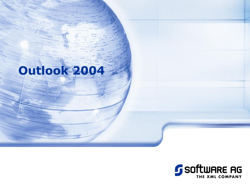 Title of PPT 25-Mar-17 Outlook 2004 © Software AG, 2003