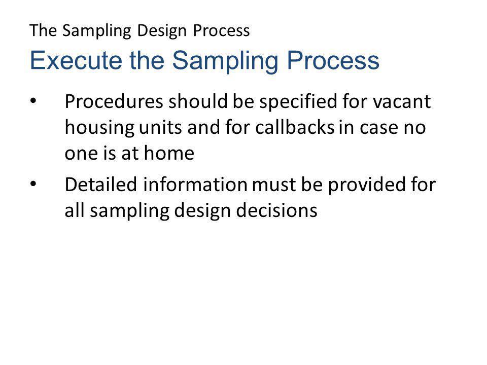 sampling design process
