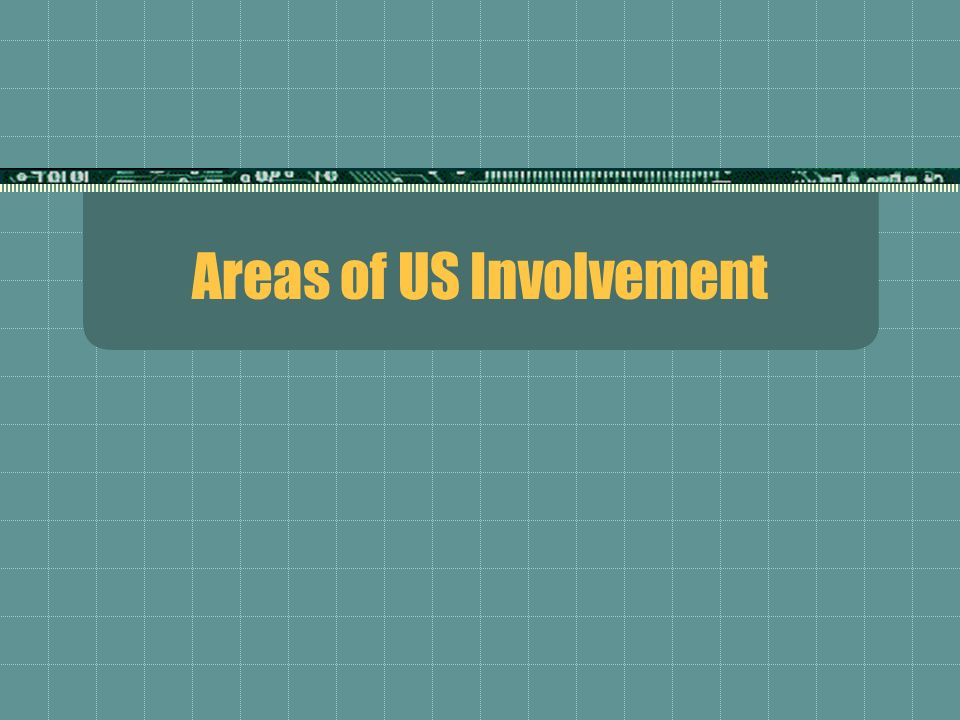 Areas of US Involvement