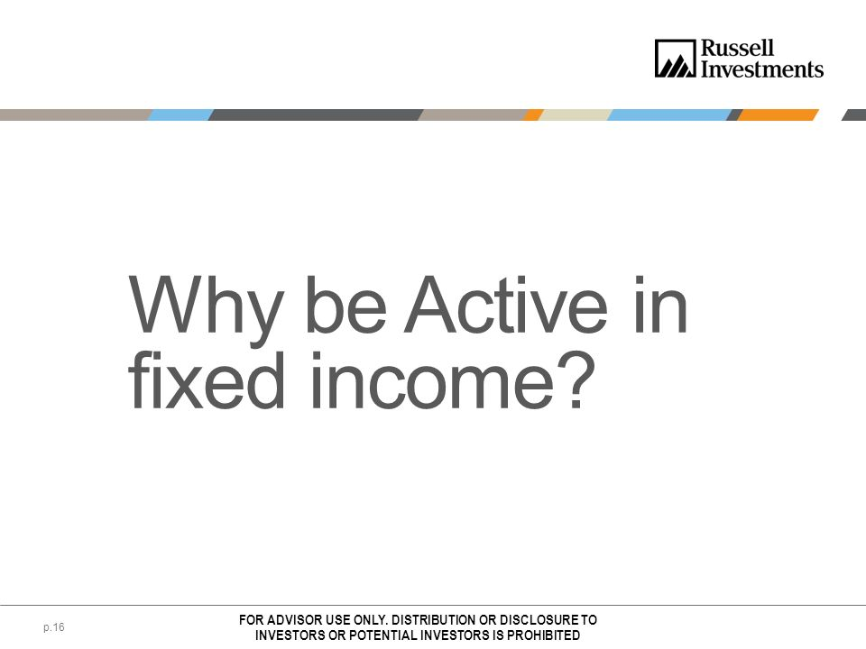 Why be Active in fixed income