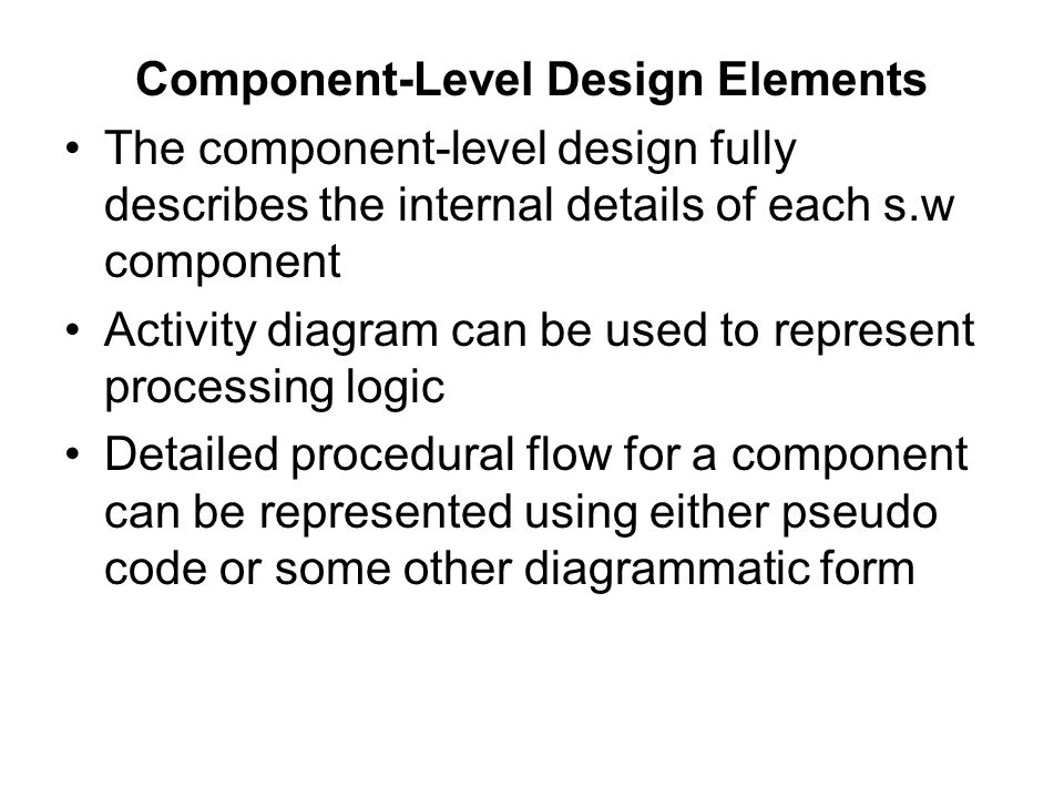 Component-Level Design Elements