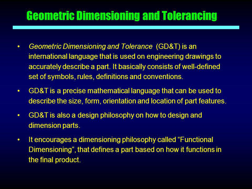 Geometric Dimensioning And Tolerancing Ppt Video Online Download