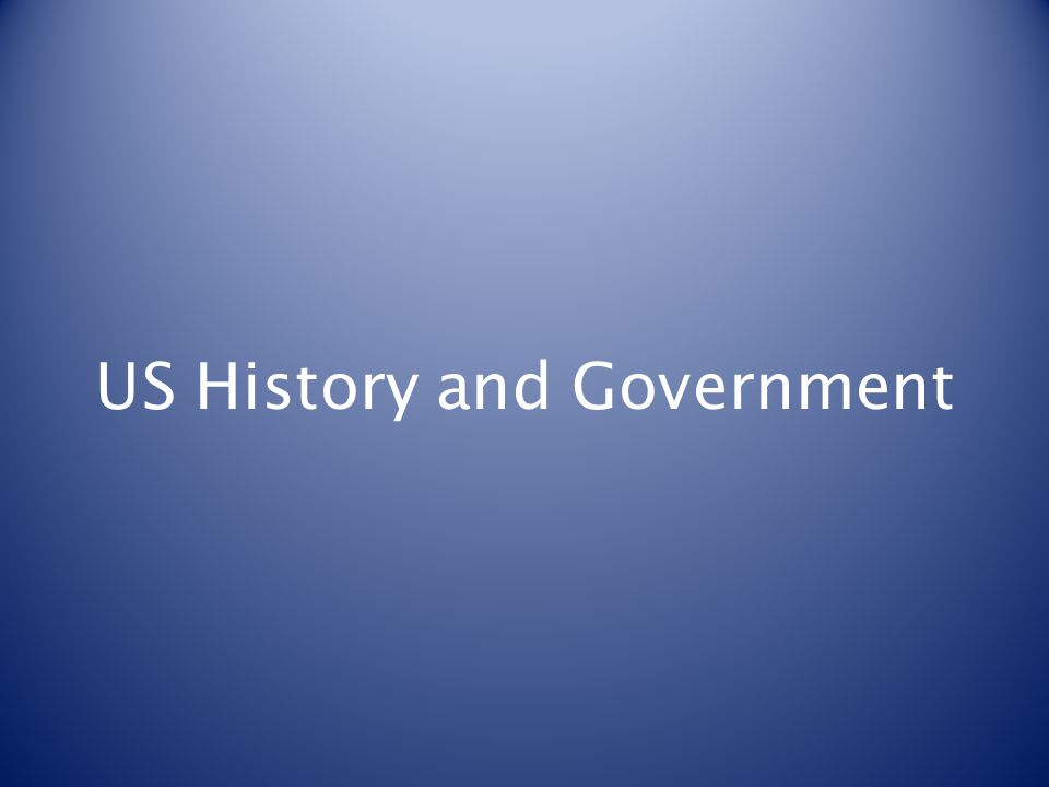 US History and Government