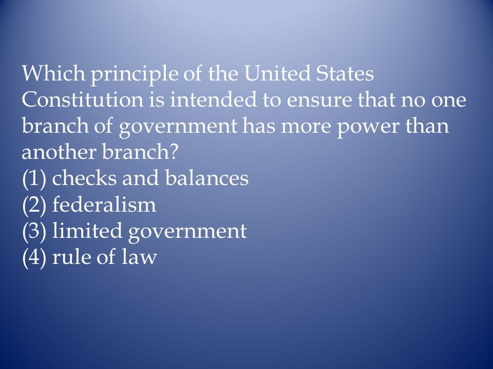 Which principle of the United States