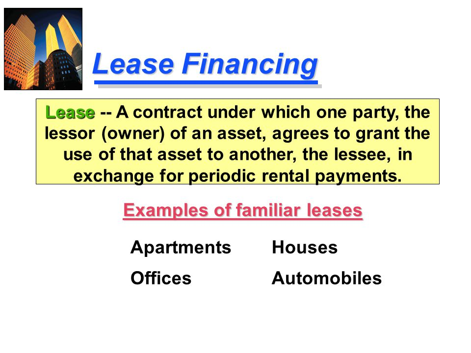 Examples of familiar leases