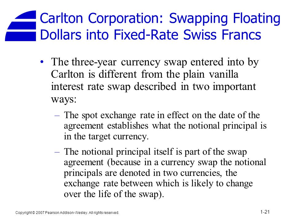 Interest Rate And Currency Swaps Ppt Video Online Download