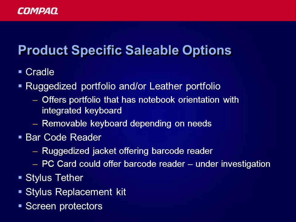 Product Specific Saleable Options