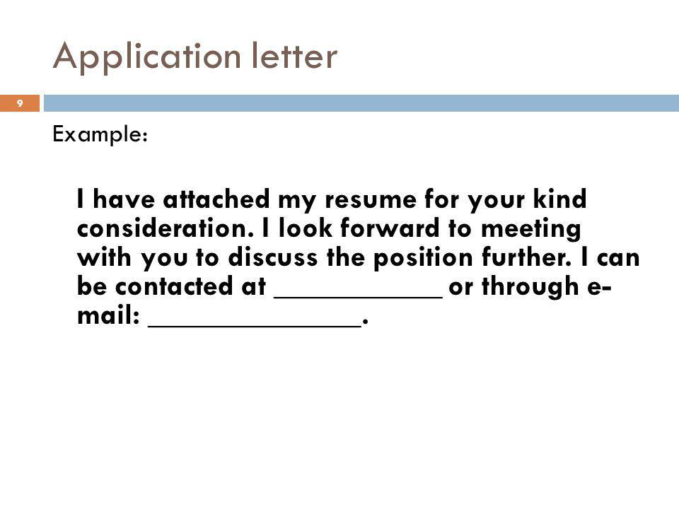 Application Letters Ppt Video Online Download