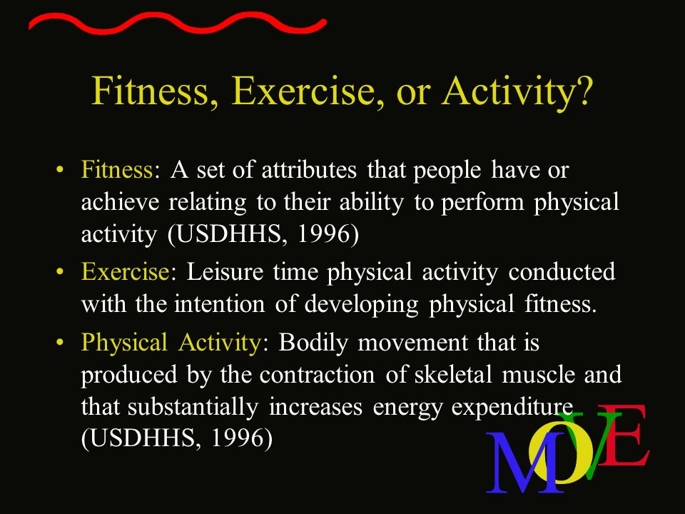 Fitness, Exercise, or Activity