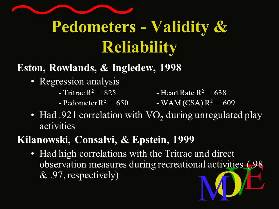 Pedometers - Validity & Reliability