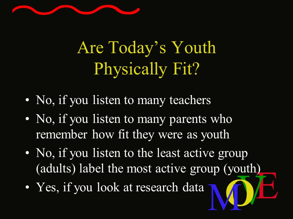 Are Today's Youth Physically Fit