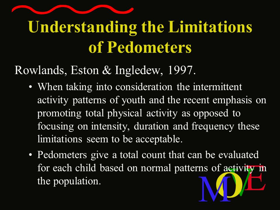 Understanding the Limitations of Pedometers