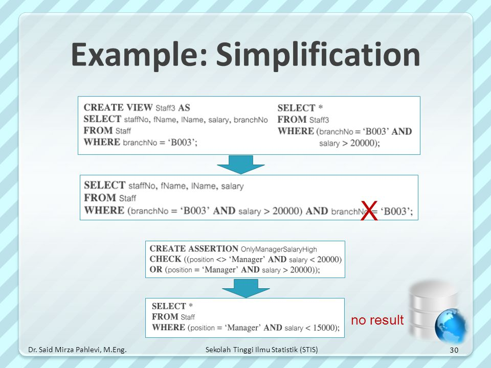 Example: Simplification