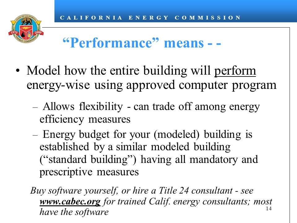 Performance means - -