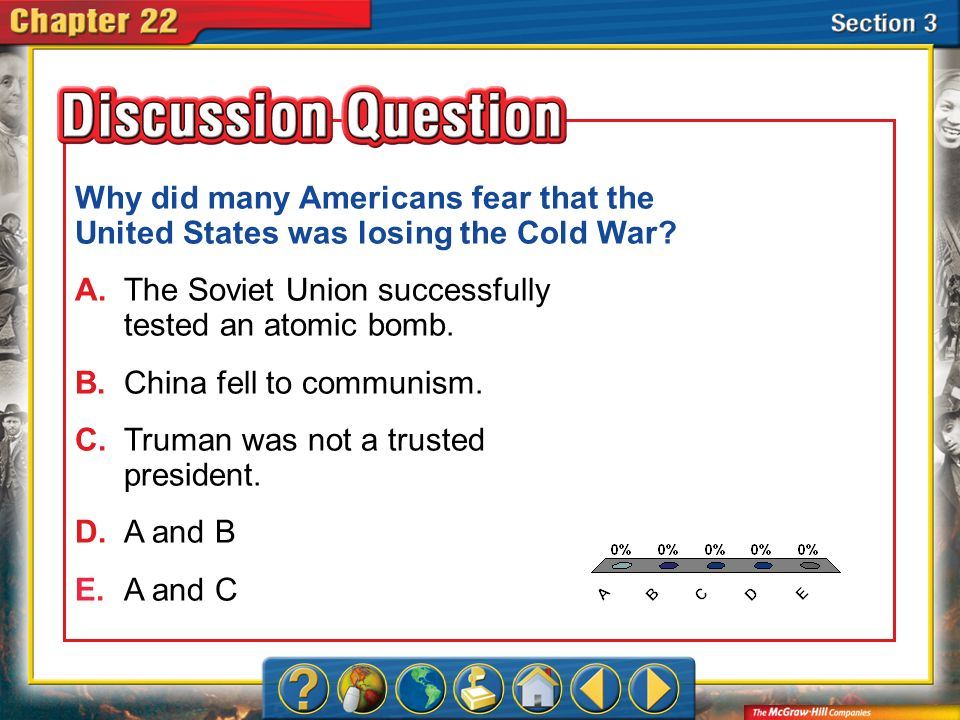 Why did many Americans fear that the United States was losing the Cold War