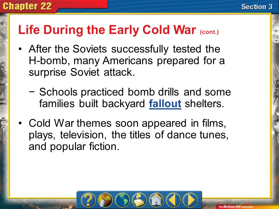 Life During the Early Cold War (cont.)