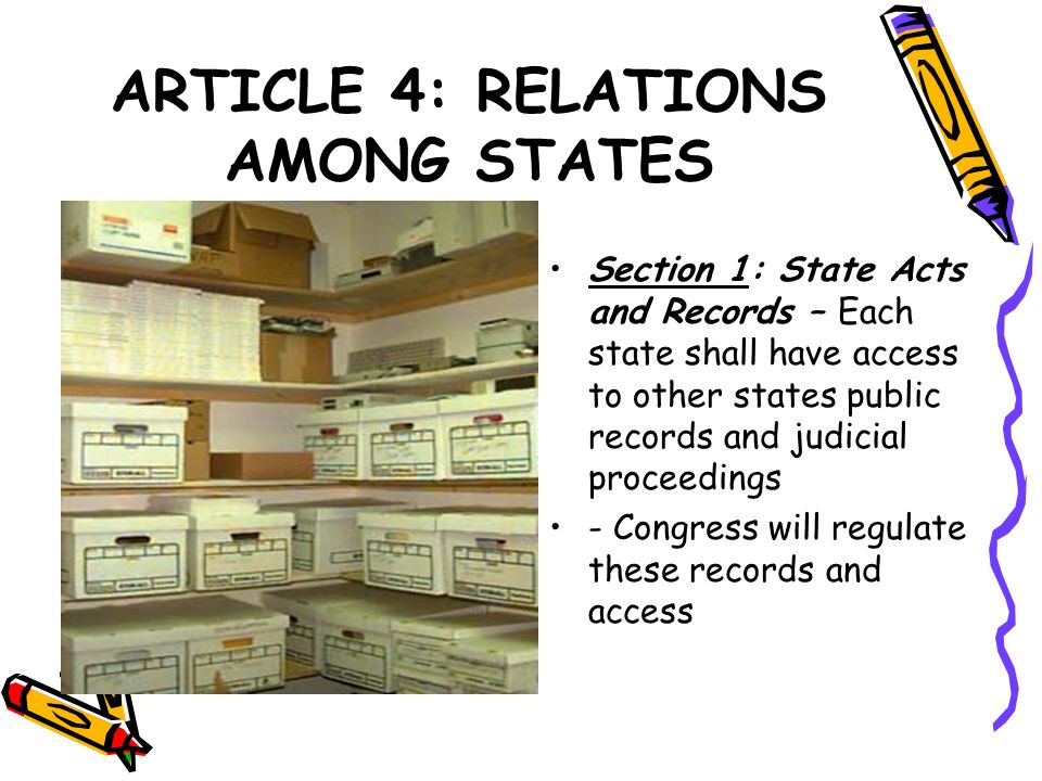 ARTICLE 4: RELATIONS AMONG STATES